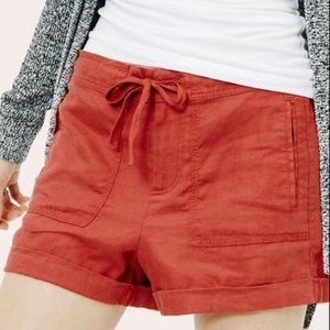 LOU & GREY rust linen shorts S